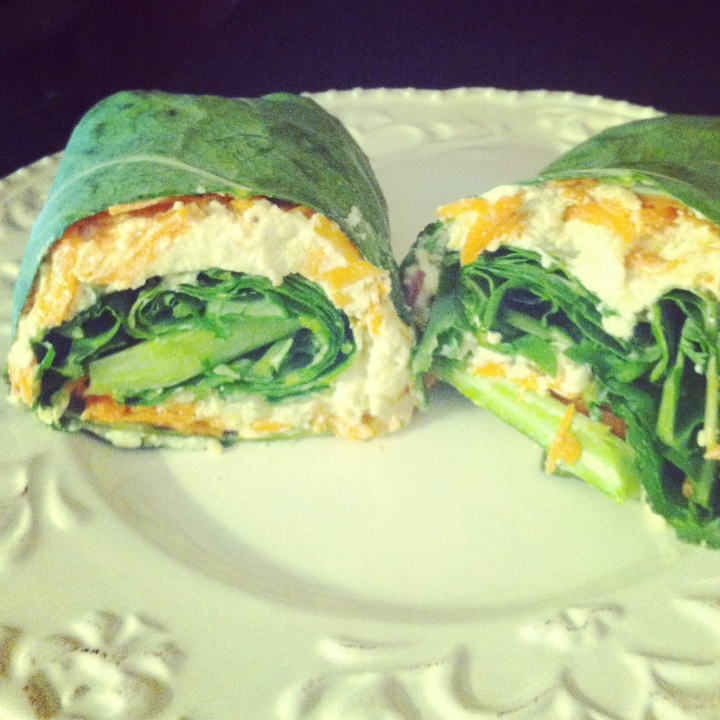 Veggie Collard Wrap with CashewSpread