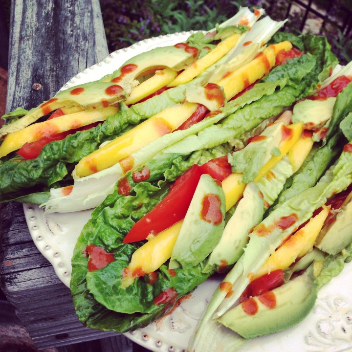 Spicy Mango Avocado Raw Tacos