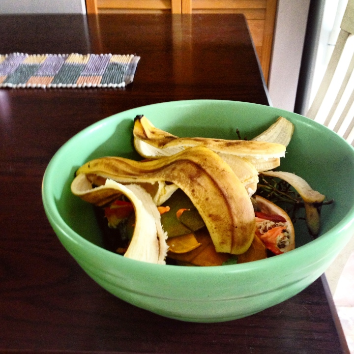 Kitchen food scraps to compost
