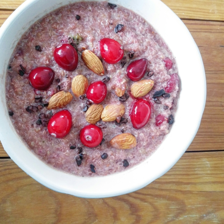 Cranberry Almond Quinoa Porridge